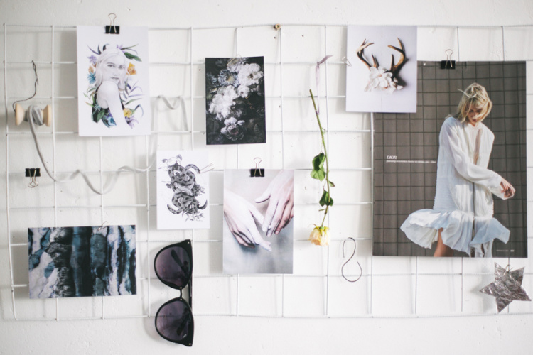 Diy moodboard simple beyond - Pinnwand gitter ...